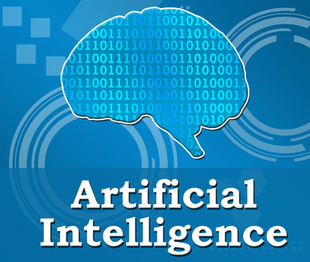 sapiens: Artificial Intelligence Techy Background Square Stock Photo