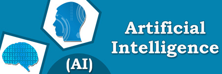advanced computing: Artificial Intelligence Blue Abstract Banner Stock Photo