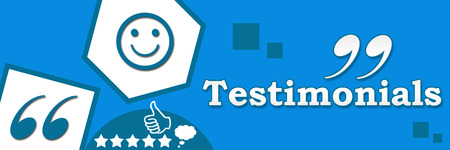 testimonials: Testimonials Abstract Blue Banner