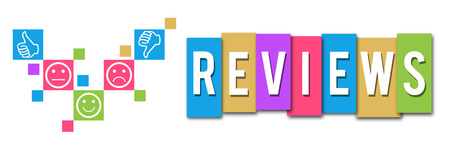 reviews: Reviews Colorful Elements Banner