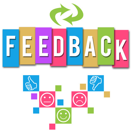 Feedback Colorful Elements Square Stock Photo