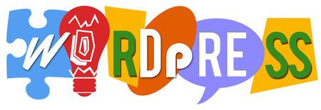 Wordpress Diverses formes colorées Banque d'images - 41944161