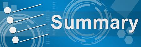 summary: Summary Blue Technical Background Stock Photo