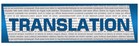 decipher: Translation Blue Block Stock Photo