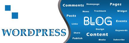 Blog Wordpress Mots-clés Bannière Banque d'images - 42092105
