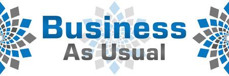 par�?s: Business As Usual Blue Grey Banner