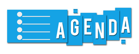 Agenda Blue Stripe Icon