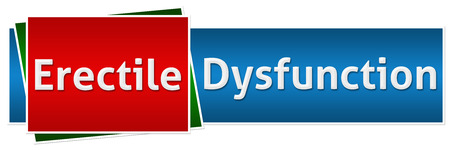 dysfunction: Erectile Dysfunction Red Blue Button Style Stock Photo