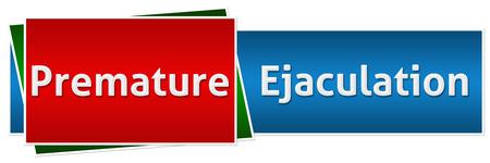 ejaculation: Premature Ejaculation Red Blue Button Style