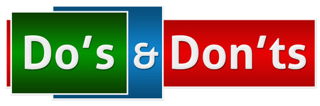 dos: Dos Donts Green Red Button Style Stock Photo