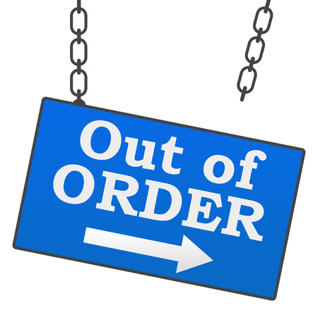 out of order: Out Of Order Signboard Stock Photo