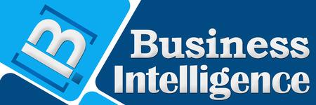 bi: BI - Business Intelligence Two Blue Squares