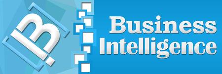 separator: BI - Business Intelligence Blue Square Separator Stock Photo