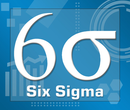 Six Sigma Symbol Business Theme Background Stock Photo