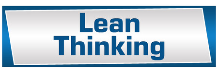 Lean Thinking Blue Silver Horizontal