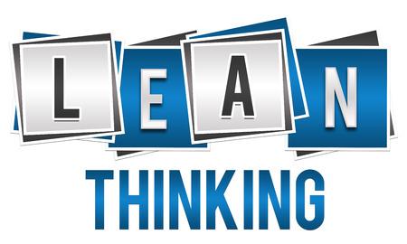 Lean Thinking Blocks plata azul Foto de archivo