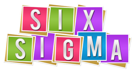Six Sigma Colorful Blocks Stock Photo