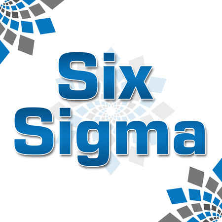 blue grey: Six Sigma Blue Grey Squares Elements Squares Stock Photo