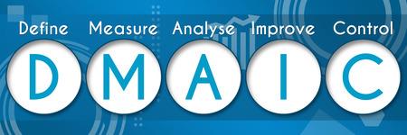 DMAIC Business Theme Circles Standard-Bild