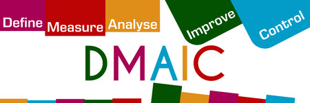DMAIC Colorful Stripes And Squares
