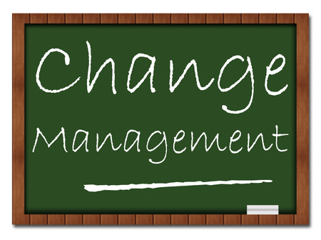 Change Management Classroom Board Stock Photo