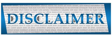 textual: Disclaimer Blue Grey Textual Block