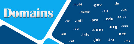 domains: Domains Blue With Keywords