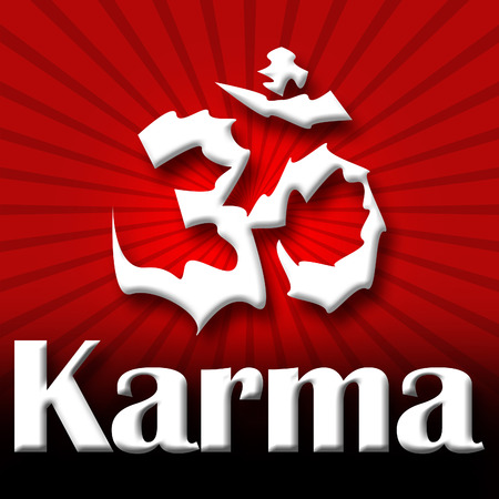 aum: Karma Aum Red Black Burst