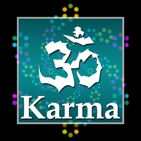 karma: Karma Black Colorful Elements Stock Photo