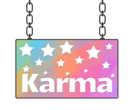 karma: Karma Colorful Signboard