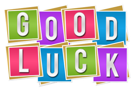 Good Luck blocs colorés Banque d'images - 44168780