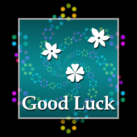 black luck: Good Luck Black Colorful Elements