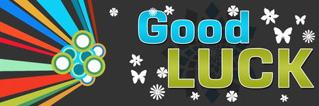 black luck: Good Luck Black Abstract Colorful Banner