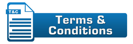 terms: Terms And Conditions File Icon Horizontal Stock Photo
