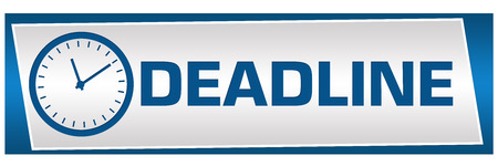 deadline: Deadline Blue Grey Block Horizontal