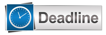 career timing: Deadline Blue Grey Button Style