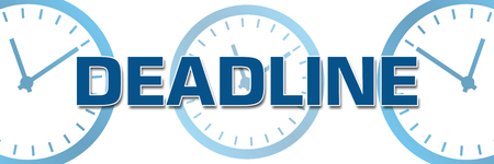 deadline: Deadline with Clocks In Background