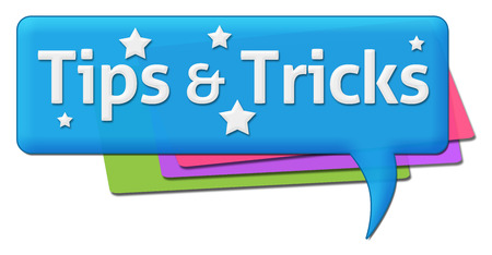hints: Tips And Tricks Colorful Comment Symbol