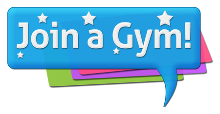 comment: Join A Gym Colorful Comment Symbol