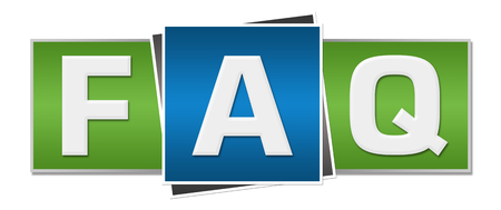 website words: FAQ - Frequently Asked Questions Green Blue