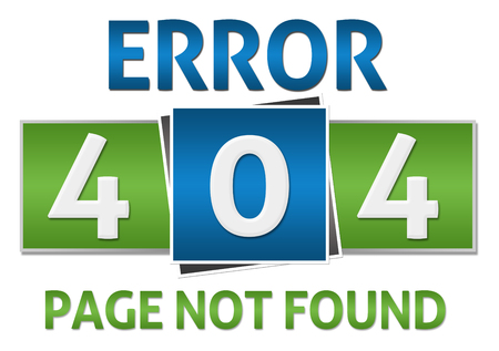 found: Page Not Found Green Blue Square