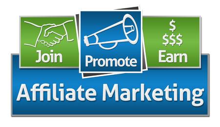 Marketing affilié Green Blue Squares Banque d'images - 45841971