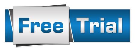 Free Trial Blue Grey Horizontal