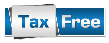 blue grey: Tax Free Blue Grey Horizontal