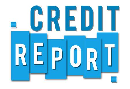 credit report: Credit Report Blue Stripes