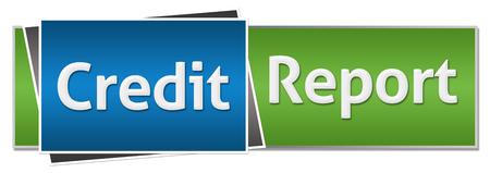 credit report: Credit Report Green Blue Stock Photo