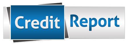 Rapport de crédit Bleu Gris Horizontal Banque d'images - 46022952