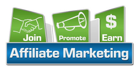 joining services: Affiliate Marketing Blue Green Rounded Squares