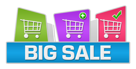 rounded squares: Big Sale Colorful Rounded Squares Stock Photo