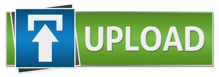 uploading: Upload Green Blue Button Style